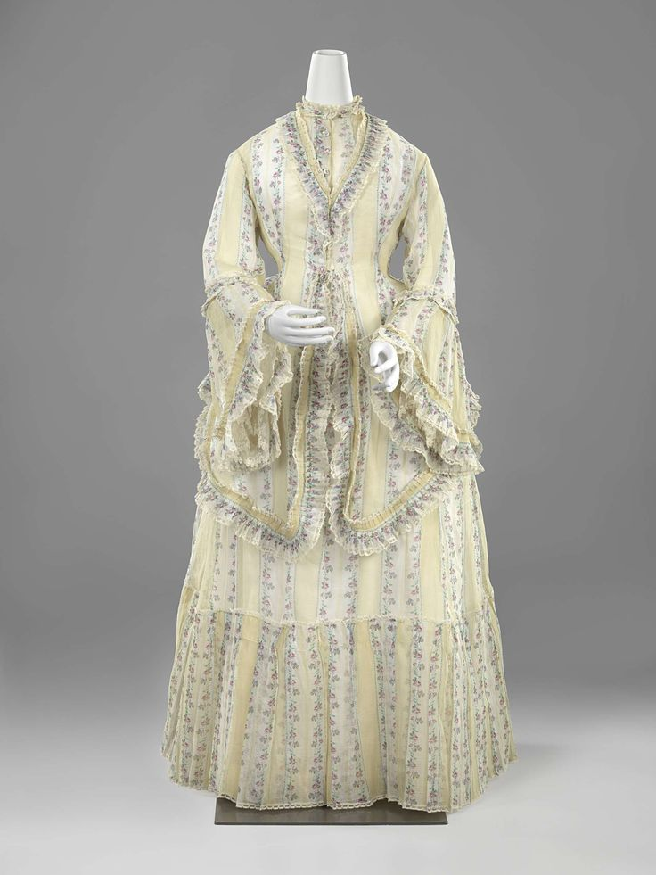 1869-1872, the Netherlands - Cotton summer dress