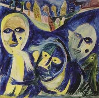 Carl-Henning Pedersen (1913 -2007) was een Deense kunstschilder van internationale betekenis. Hij was lid van Cobra en had daarin een belangrijke Deense inbreng. Als kunstschilder was hij een autodidact. Hij schilderde bijna van meet af aan abstract en had een voorliefde voor buitenaardse wezens, voor paarden en vogels, alsook voor fabeldieren. Hij was het meest productief in de periode dat Cobra actief was en werd een van de prominente naoorlogse kunstenaars van Denemarken.