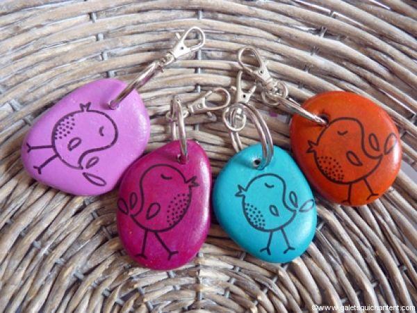 Porte-clés Oiseau siffleur couleur