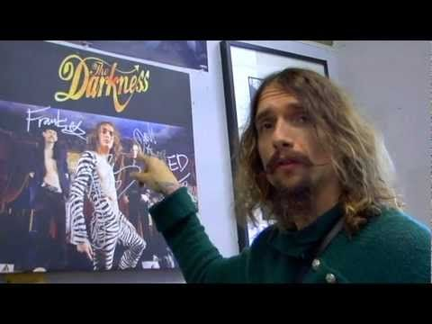 One of my fave rock stars- Justin Hawkins of The Darkness goes shopping at Amoeba Music in Hollywood.