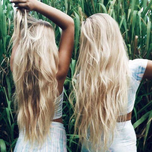Image via We Heart It #beauty #blonde #girls #hair #long #friends
