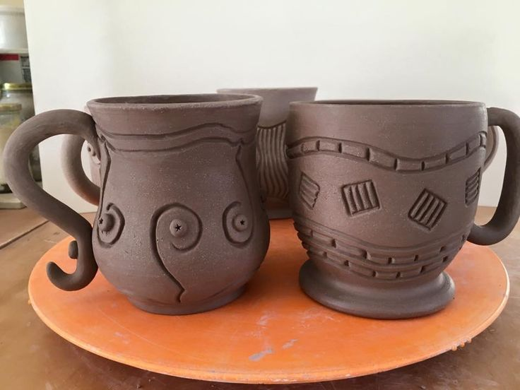 1055 best images about cups mugs on pinterest ceramics for Clay mug ideas