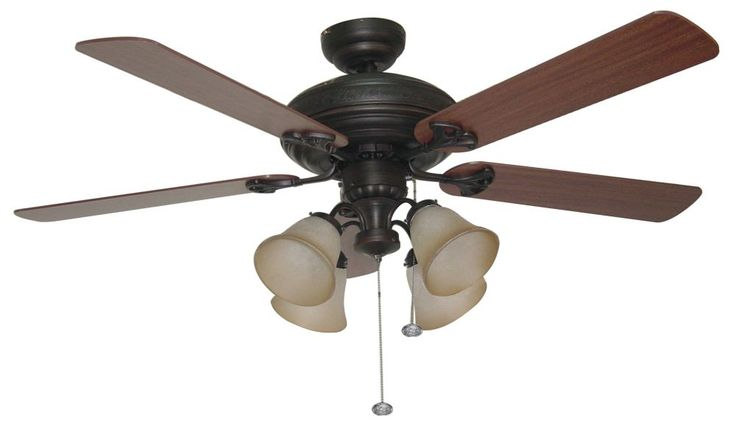 Ellington by Craftmade BFT525C Beaufort 4 Light 52 Inch Ceiling Fan With 5 Blade is made by the brand Craftmade and is a member of the Beaufort collection. It has a part number of BFT525C.