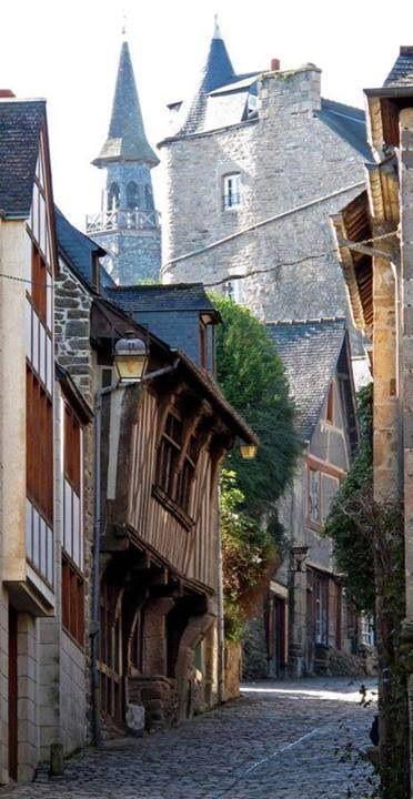 Quartier médiéval de Dinan, Bretagne.