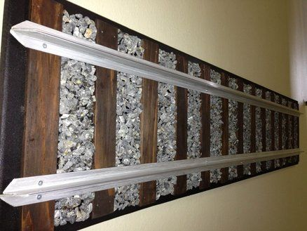 Diy Wall Mounted Train Track Headboard Our Home C S
