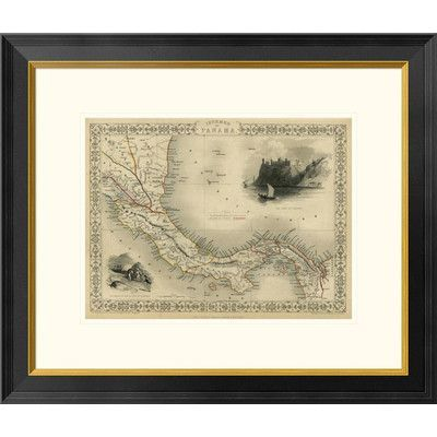 "Global Gallery Isthmus of Panama, 1851 by R.M. Martin Framed Graphic Art Size: 22"" H x 26"" W x 1.5"" D"