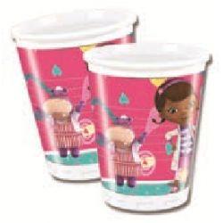 Copos de Plástico descartáveis oara festas de aniversário do tema Doutoura brinquedos / Doc Mcstuffins Disposable birthday plastic  Cups