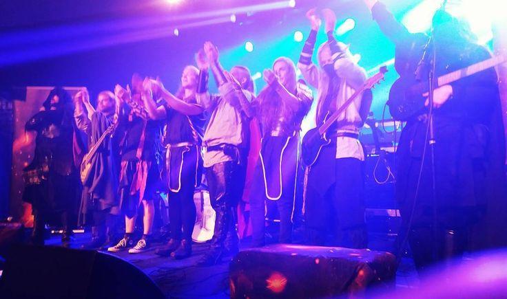 Twilight Force and Stormhold ⚫ Photo by Sofia Smedberg ⚫ Huskvarna 2016 ⚫ #TwilightForce #music #metal #concert #gig #musician #Chrileon #Lynd #DeAzsh #Born #Blackwald #Aerendir #singer #vocalist #frontman #guitarist #guitar #microphone #ninja #mask #armour #armor #microphone #bracers #tattoo #beard #hood #hymn #elf #tabard #playing #coat #earrings #leather #blond #longhair #show #photo #fantasy #magic #cosplay #larp #man #onstage #live #celebrity #band #artist #performing