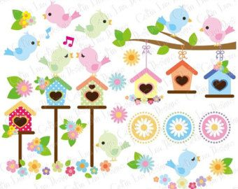 Downloadable set of 14 digital bird clip art graphics - pink gingham bird clipart, baby bird clipart, blue birdhouse clipart, bird house clip art, tulip clipart, spring clip art, flower clipart, summer scrapbook ★ GET 5 ITEMS FOR $5 ★ Add five items priced at $3.50 USD and use code 5FOR5 at checkout. ▬▬▬▬▬▬▬▬▬▬▬▬ PRODUCT DETAILS • This zipped download includes 14 transparent PNG image files. • Each individual image measures 6 inches longest side at 300 DPI. ▬▬▬▬▬▬▬▬▬▬▬▬ IMAGE USAGE TERMS By…