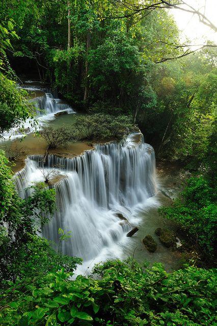 Tropical Rainforest Waterfalls..