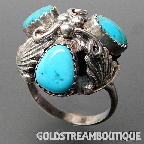 Native American Geraldine James Navajo 925 Silver Sleeping Beauty Turq – Gold Stream Boutique