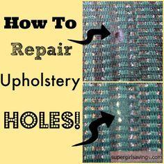 Diy Upholstery Repair Video Tutorial