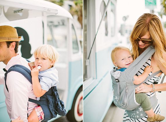 Great way to get out & about with baby & family!  Ice cream outing with #Ergobaby | Rebecca Fishman | 100 Layer Cakelet   #TeaWelcomeBaby
