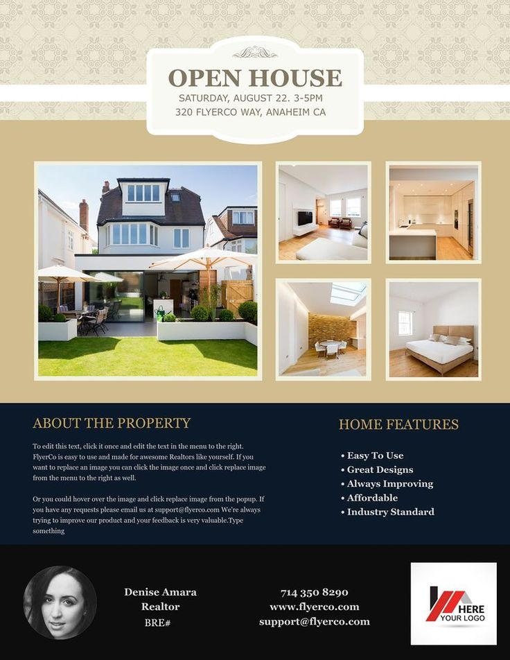 Open house flyer for sale real estate marketing open house flyer de 34 beste bildene om real estate ideas p pinterest open house flyer pronofoot35fo Images