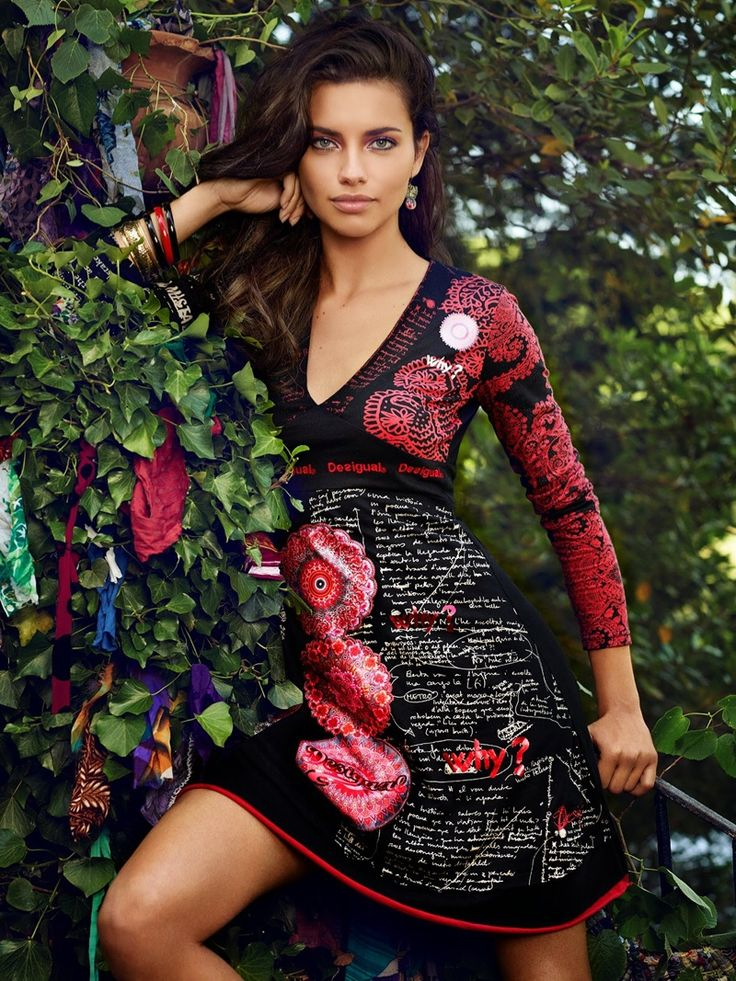 Adriana Lima Shines in Desiguals Fall 2014 Campaign photographs by Miguel Reveriego