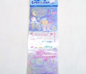 Baby Girl Sticker Embellishments on sale for R47.50 | Paradise Creative Crafts