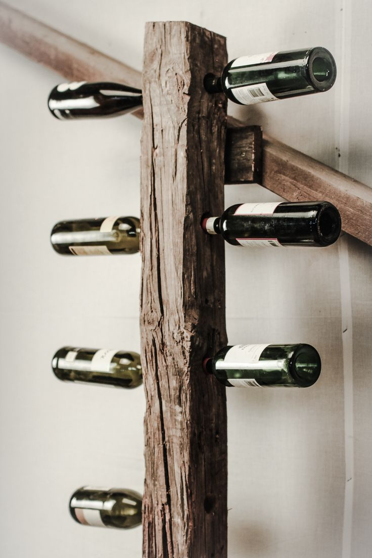 Dock for Wines in rustic reclaimed pine by MUDAHULA