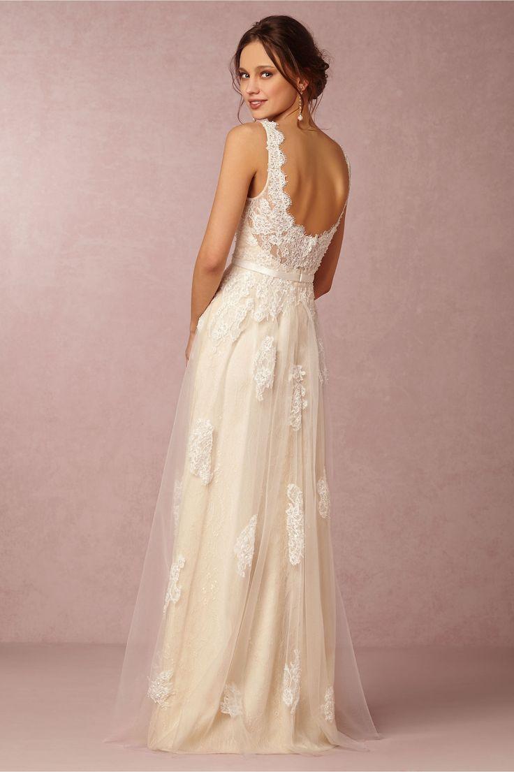 Wedding Dress Georgia Gown Bhldn Low Cut Back Marry