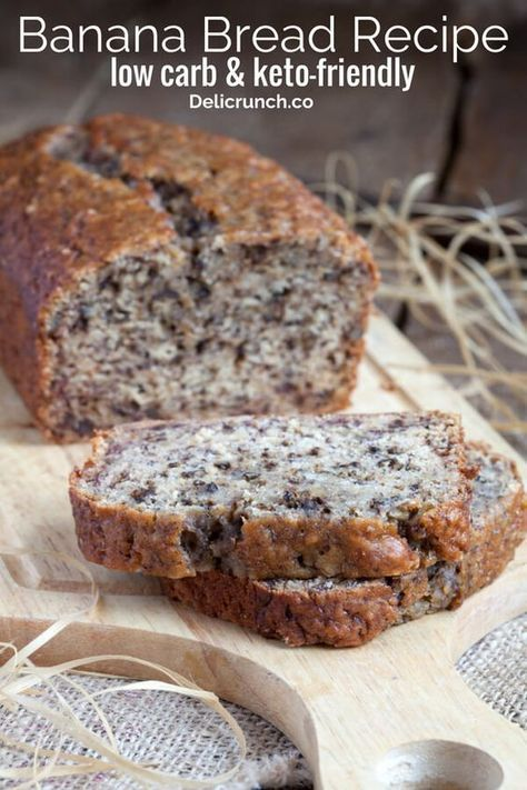 The Best Low Carb Banana Bread Keto Friendly