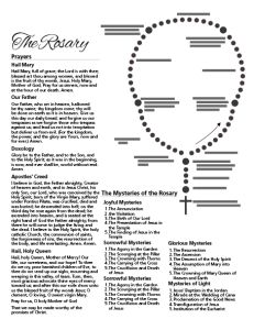 How To Pray The Rosary Printable | Rosary prayer guide ...