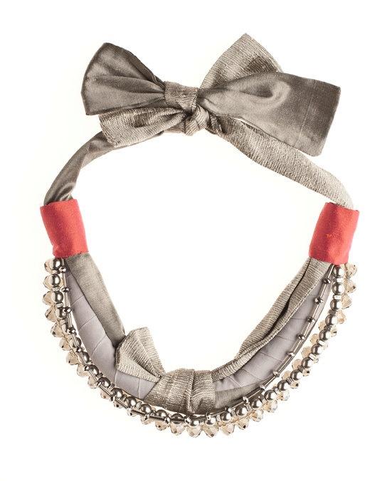 Lagenlook Jewellery: Grey And Coral, Charlotte Hosten