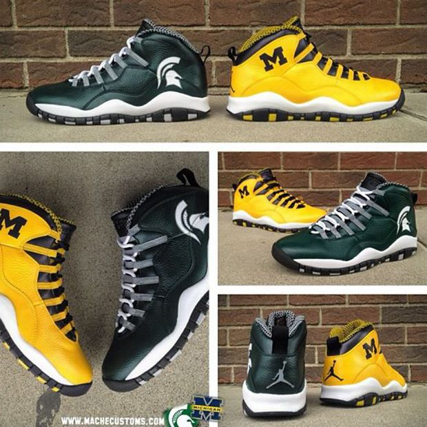 "Air Jordan 10 ""A State Divided"" Customs by @MACHE275"