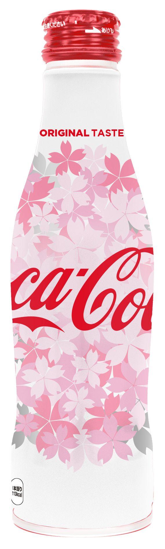「コカ・コーラ」スリムボトル 桜デザイン
