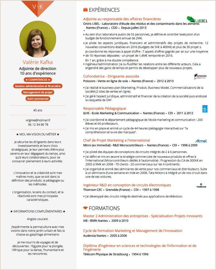 Exemple De Cv Francais Pdf in 2020 Teacher cv template