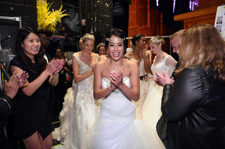Gorgeous Broadway star Courtney Reed after her finale walk on the runway