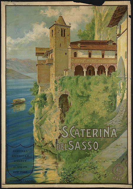 Vintage Italian Posters ~ #illustrator #Italian #vintage #posters ~ S. Caterina del Sasso