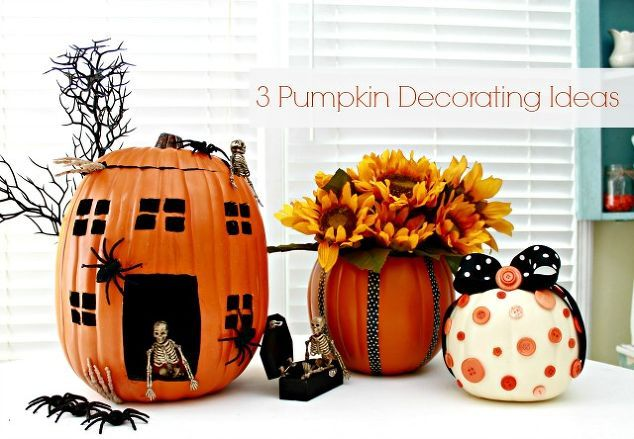 decorating pumpkins using foam pumpkins, crafts, seasonal holiday decor, 3 Pumpkin Decorating Ideas