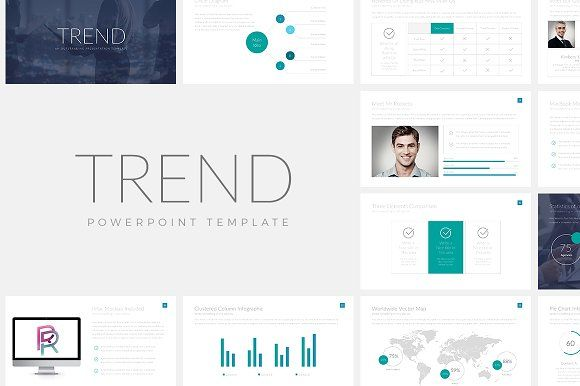 Trend PowerPoint Template by Rocketo Graphics on @creativemarket