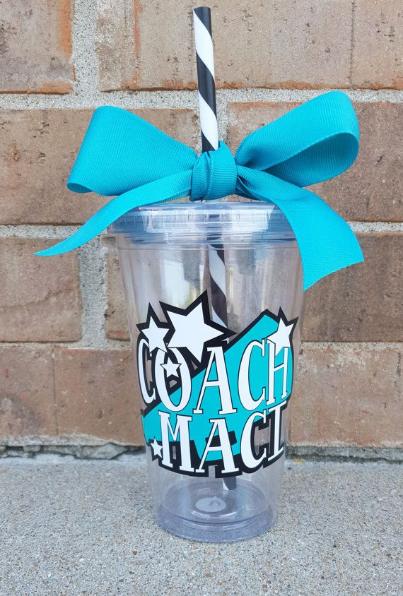 Cheer Coach Personalized Cheerleading Megaphone by BurlapAndBelle