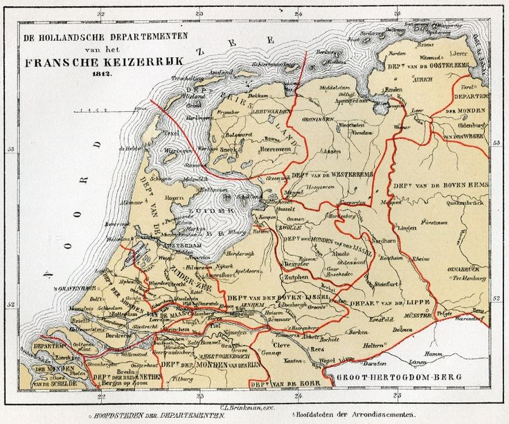 De Hollandsche Departementen van het Franse Keizerrijk 1812