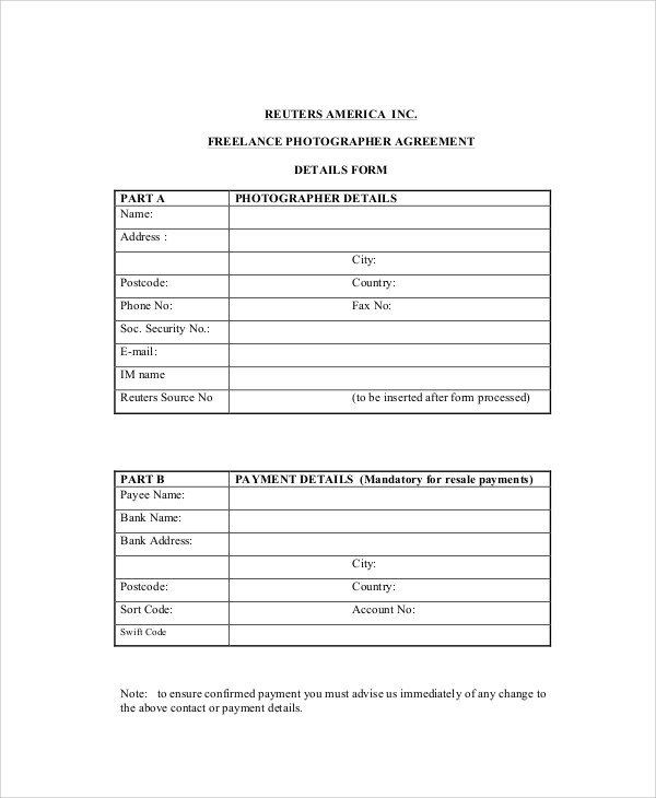 Freelance Bookkeeping Contract Template Unique 7 Sample Freelance Contract Agreement Templates Pages Contract Template Word Template Newspaper Template
