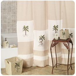 Tropical Shower Curtains   Towels