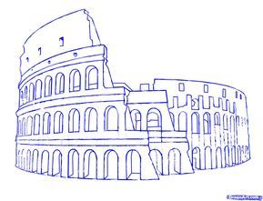How To Draw The Colosseum Step 7 Drawing In 2019 Drawings Art