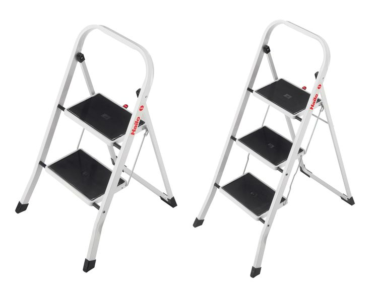 Hailo K20 2 3 Stufen Stahl Klapptritt Tritt Haushalt Leiter Klappleiter NEU | markenbaumarkt24
