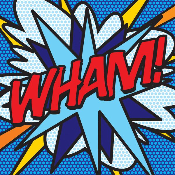 Comic Book WHAM! Art Print by The Image Zone