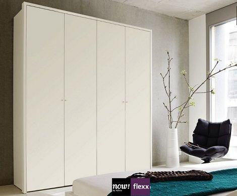 Now by Hulsta Flexx draaideurkast,wit lak,hoogglans wit, grey,zand,eiken,noten 4 deurskast met kader
