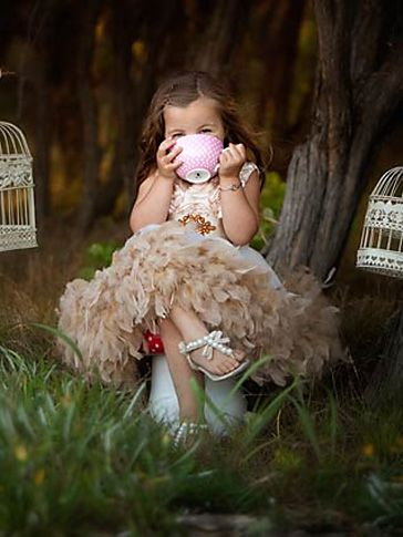 Demure Elegance Satin Rosette Feather Dress
