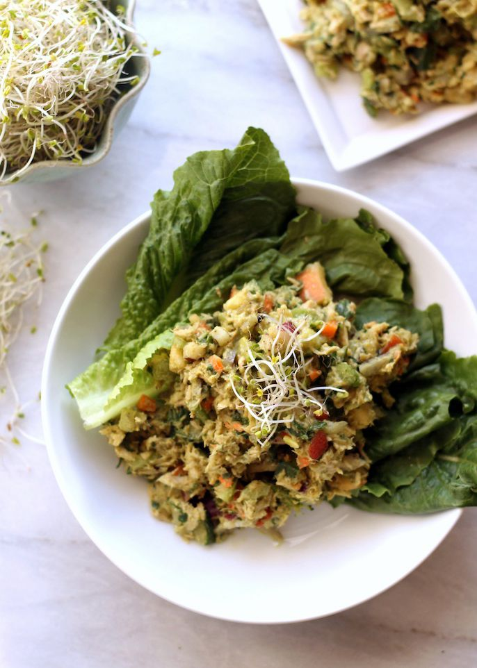 Swap out mayo for avocado in this tuna salad recipe.