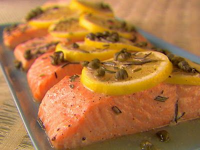 Salmon with Lemon Capers and Rosemary
