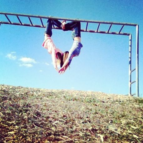 This almost seems impossible to me!!!lol it amazing though if only i knew where to find monkey bars!!
