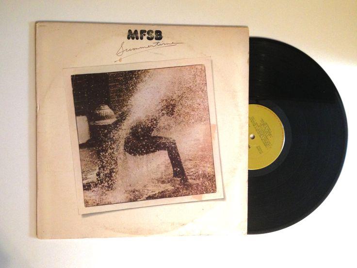 VALENTINES DAY SALE Mfsb Summertime Vinyl Record 1976 Electronic Funk Disco Hot Summer Nights Picnics In The Park Lp Album