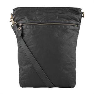 Rigtig lækker taske i ægte skind fra Depeche med lynlås på siden