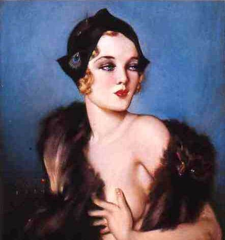 """Alberto Vargas painted """"Follies Girl"""" for the Follies in 1931"""