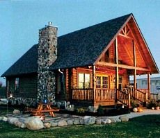 Tiny log house plans