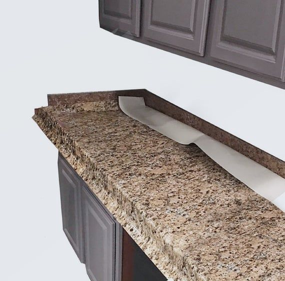 Waterproof Durable Decorative Counter Top Update Makeover Cover Self Adhesive Peel And Stick Gold Granite Film No Faux Granite Laminate Countertops Countertops