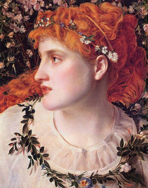 Frederick Sandys, English Pre-Raphaelite painter (1829-1904). 'Perdita' c.1866